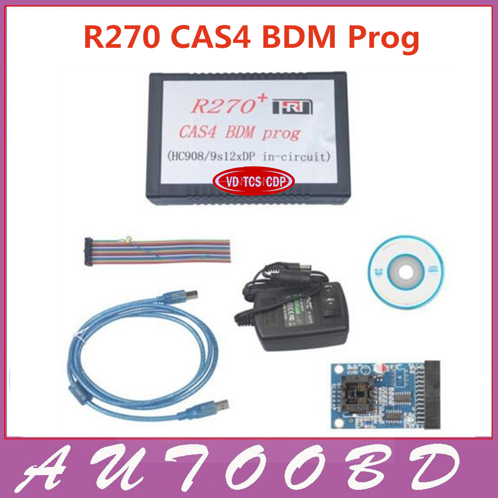 DHL FREE top Rated product R270 key programmer car auto mileage odometer correction adjust tool R270 CAS4 BDM Programmer 100% new and original xbe dc16a ls lg plc 16 point dc24v input
