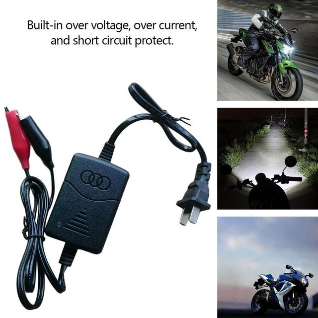 Short Circuit Protection 12 V 1300mA Sealed Lead Acid Rechargeable Automatic Battery Charger for Car Truck Motorcycle