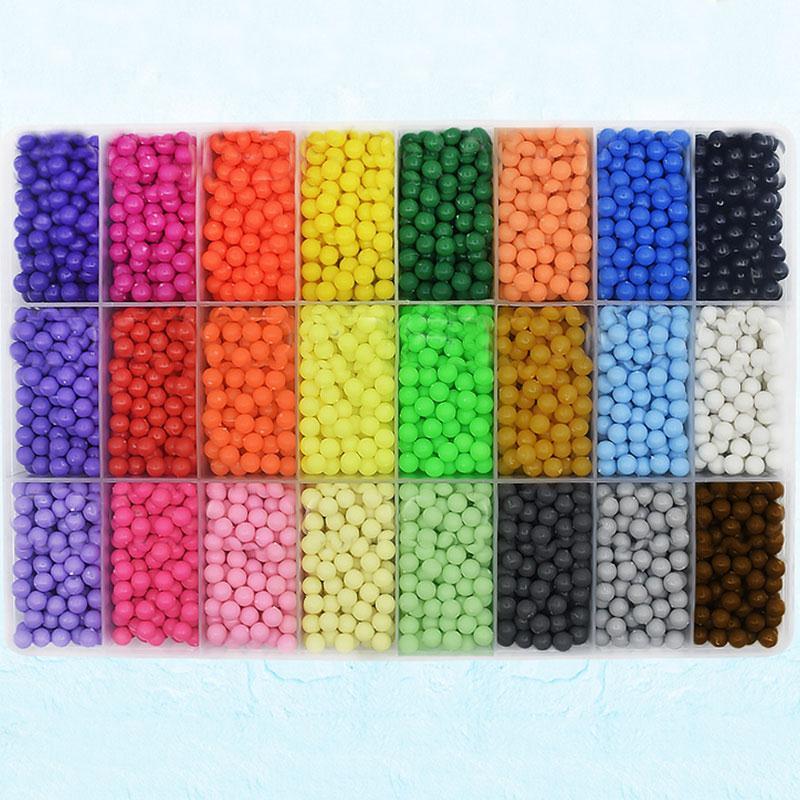 3000PCS/Bag Water Stick DIY Magic Beads Ball Aqua Jouets Perler Pegboard Hama Pixels Magic Beads Jigsaw Puzzle Educational toy