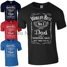 World's Best Dad T-Shirt luxury brand tshirt Gifts for Dads Fathers Day Present No.1 dad cotton fashion t-shirts mens sbz5309(China)