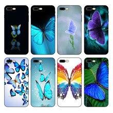 купить IMIDO Riverdale Blue Butterfly For iPhone X 6s 6plus 6 7plus 7 8 8plus 5 5S SE SE XR XS max phone case дешево