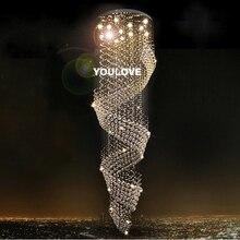 купить YOULOVE LED Luxury crystal chandeliers light villa hall foyer lamps lobby restaurant stairway crystal drop lights safe packaging по цене 57901.64 рублей