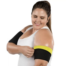 Neoprene Shapers Arms Sleeves Women Weight Loss Slimming Arm Warmers Sauna Sweat 1 Pair Sport Fitness New Slimmer Trimmer RiauDe