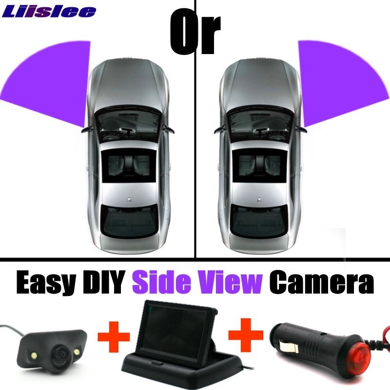 For F S X Type XJ XK XKR XF F Pace LiisLee Car Side View Camera Blind Spots Areas Flexible Copilot Camera Monitor System