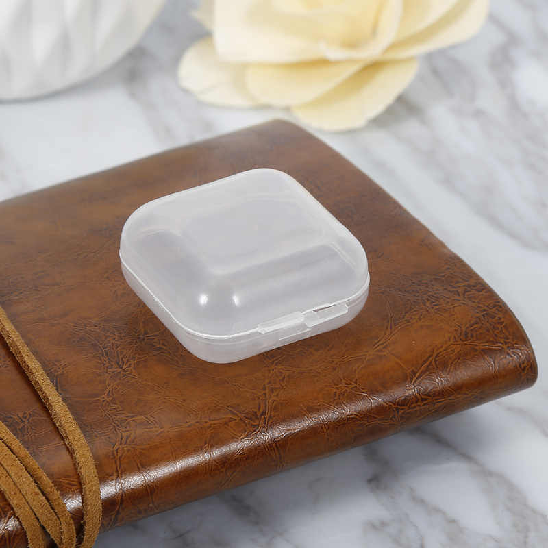 1pc Plastic Headset Storage Box with Lid Collection Container Case for SD Card Line Coin Headphone Accessories 50%