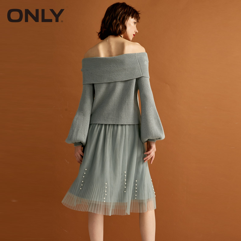 ONLY new set of heads shoulder lantern sleeves two piece dress 118346528 in Dresses from Women 39 s Clothing