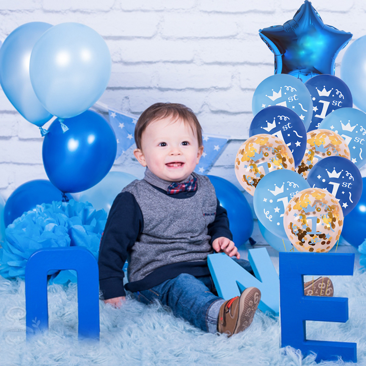 PATIMATE Baby 1st Birthday Balloons Girl Ballons Decoration Birthday 1 Year Baloon Boy Helium Balloon Number Letax Balon in Ballons Accessories from Home Garden