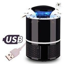 USB Lámpara electrónica del asesino del Mosquito anti mosca mosquito eléctrico lámpara de Control de plagas Bug Zapper señuelo trampa del asesino del Mosquito de interior