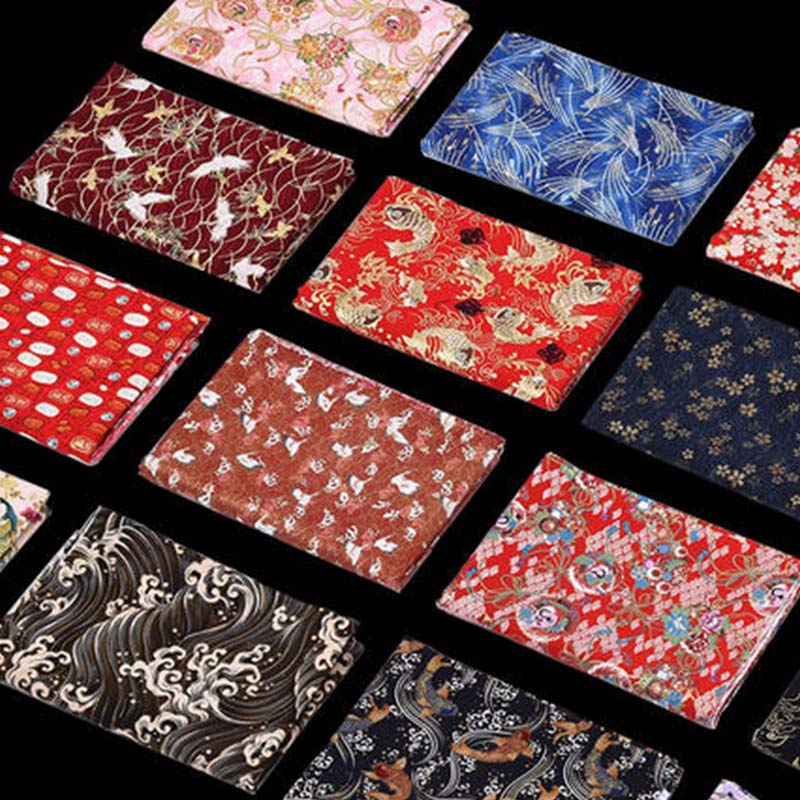 50cm 150cm Clothing Costumes DIY Fabric For Sewing Cotton Fabric Japanese Fabric Flower Pattern Patchwork Woman Dress Cheongsam in Fabric from Home Garden