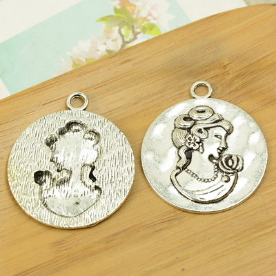 free shipping 20pcslot A5707 antique silver Head  shape alloy charm pendant fit jewelry making 45x40mm wholesale