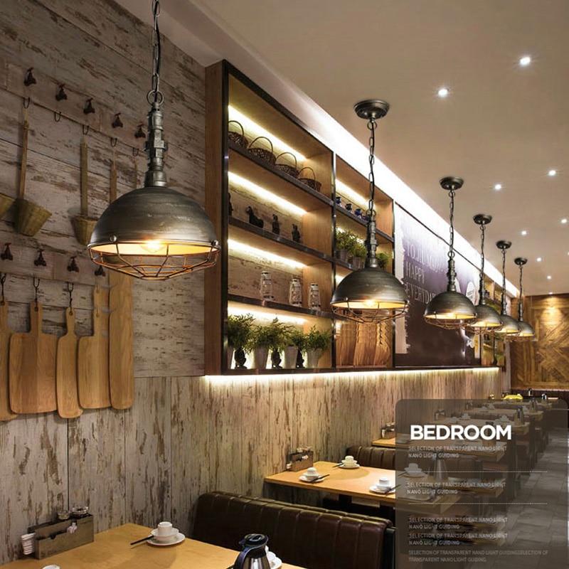 Luminaire suspendu de Style industriel Loft lampes suspendues rétro lampe pendante minière créative pour Luminaire de Restaurant Edison - 4
