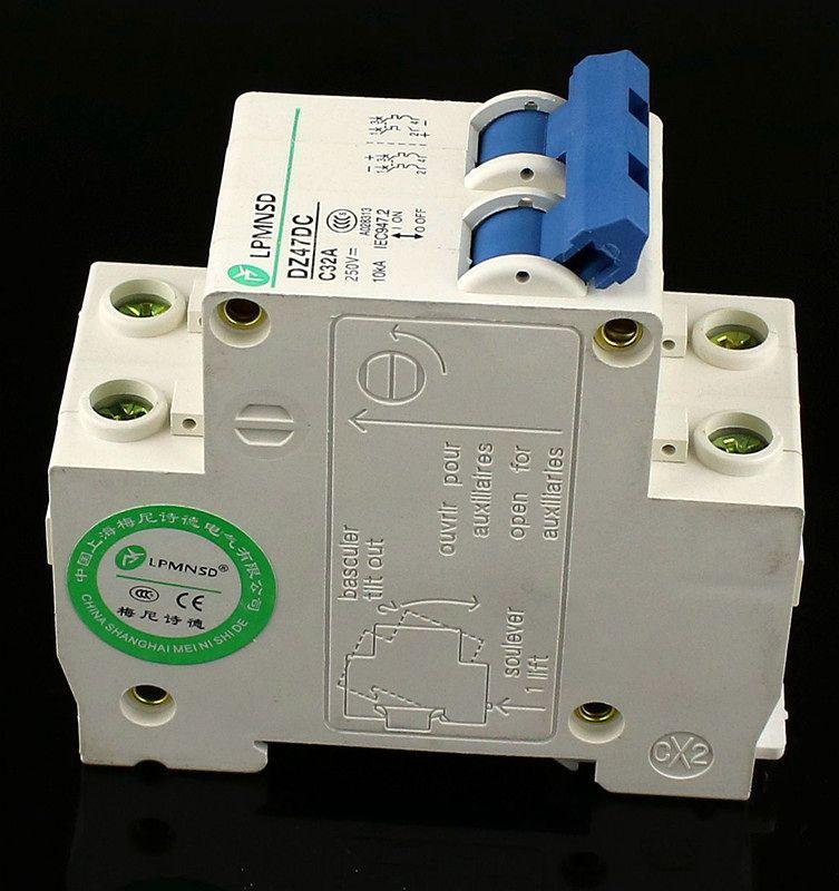 32A DC 2P 250V C65H-DC Circuit Breaker MCB PV Solar Energy Air Switch