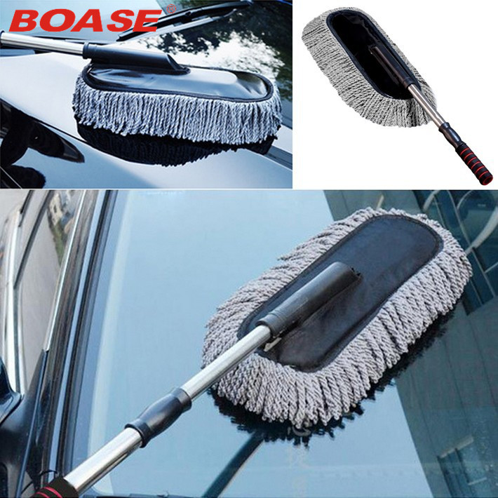 Microfiber Car Duster Cleaning Cloths Car Care Clean Brush Dusting Tool Microfibre Wax Polishing Detailing Towels Washing Cloths