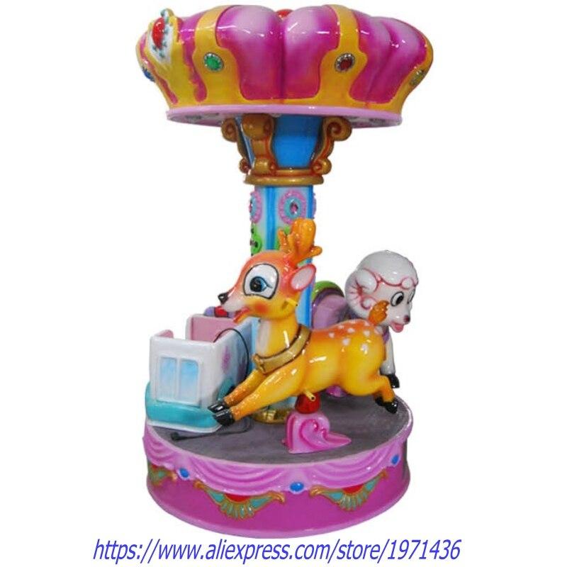 3 sièges carrousels cheval Kiddie manèges équipement d'amusement enfants Machine de jeu
