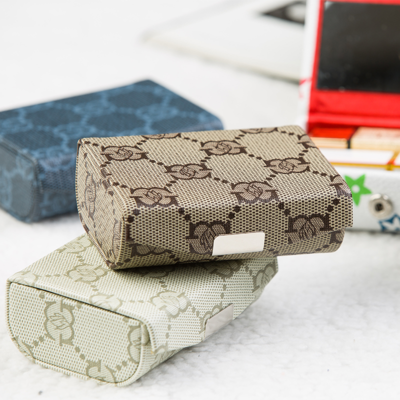 Luxury Brand Vintage Lipstick Box Storage Box Jewelry Box Cortex Makeup With Mirror