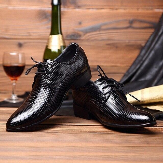 4e4c37f984a 2016 Los Hombres de Oficina Zapatos de Vestir Italiano de La Boda Traje de  Hombre Casual