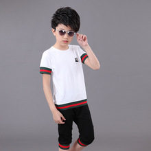 2017 Boys/ladies Clothing Cotton Children's garments T-shirt+Boy Shorts Boys Summer Sets 2pcs Boys Sets Kids sports activities fits