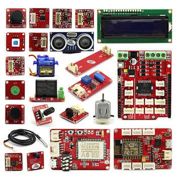Elecrow Crowtail Deluxe Kit for Arduino Learner Education Fans Maker DIY Kit With Retail Box Super Learning Kit with 18 Projects - DISCOUNT ITEM  18% OFF All Category