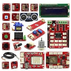 Kit de lujo Crowtail Elecrow para Arduino, Kit DIY para aficionados a la educación, con caja de venta al por menor, Kit de Super aprendizaje con 18 proyectos