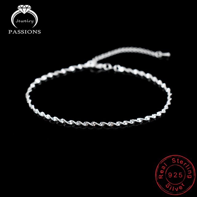 Fashion Twisted Weave Chain For Women Anklet Hot Sale 925 Sterling Silver Anklets Bracelet For Women Foot Jewelry Anklet On Foot