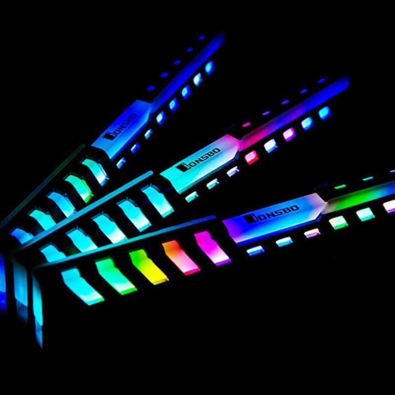 2pcs Memory Heat Sink RAM Cooling Vest Automatic Color Light Radiator Aluminum