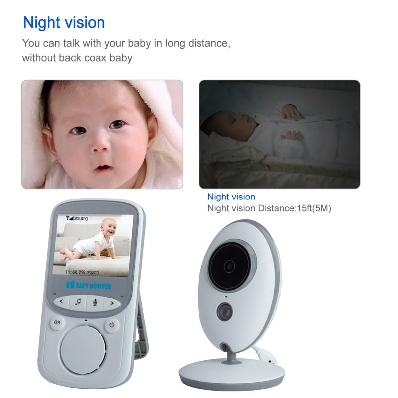 2.4 Inç Renkli LCD Kablosuz Dijital Ses Video Güvenlik Bebek Uyku - Bebek Güvenliği - Fotoğraf 5