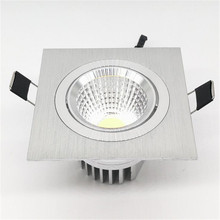 free shiping ! High super Square 10W dimmable COB LED downlight,dimmable led downlight AC90-260V