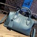 Women Leather Handbag Genuine Bao Bao Ladies Shoulder Bag Solid Tote Bolsa Feminina Top-handle Bags Sac A Main Woman Bags Female
