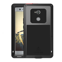 For Sony Xperia XA2 Case Ultra Metal 360 Full Body Protection Tempered Glass Armor Cove For Sony XA1 Plus Ultra Case Shockproof