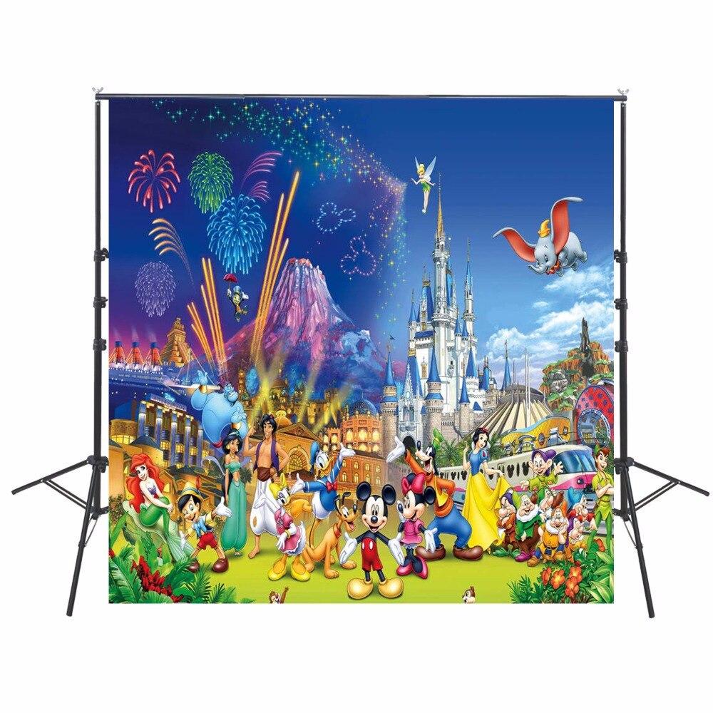 10x10 피트 만화 사진 배경 헝겊 사진에 대 한 비닐 배경 아이 생일 파티 테마 배경 사용자 정의 이름