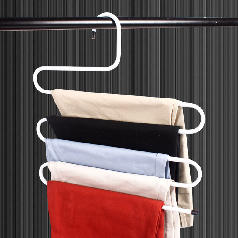 Lovely New 5 In 1 Stainless Steel Multifunction Retractable Pants Rack Trouser Hanger Matching In Colour Home & Garden