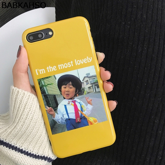BABKAHSO Funny little girl Case for iphone X 7 7Plus...