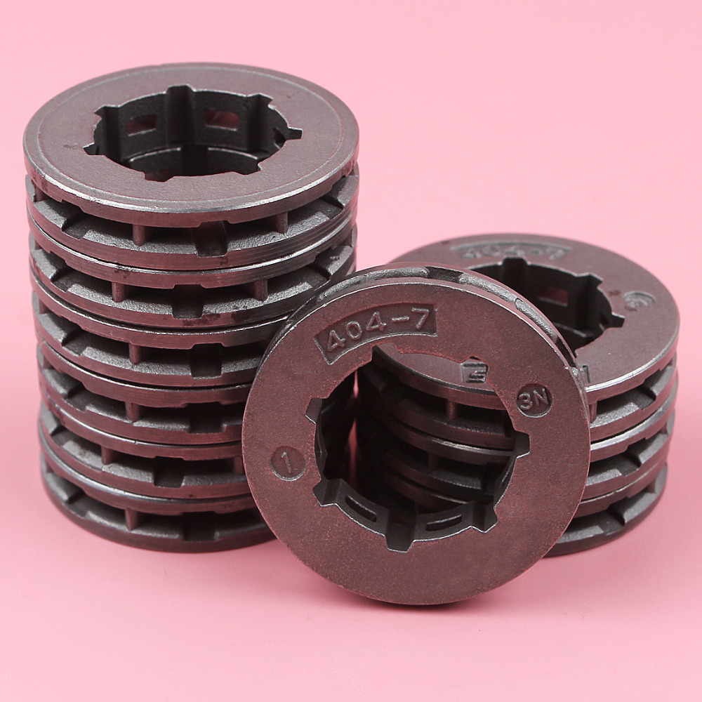 10pcs lot  404 7 Teeth Standard Spline ID 22mm Sprocket Rim For Stihl 075 076 050 051 045 045AV Chainsaw Spare Part