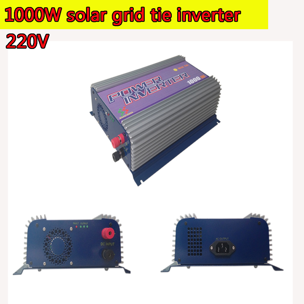 1000W Grid Tie Power Inverter 220V MPPT Pure Sine Wave DC to AC Solar Power Inverter MPPT 22V to 60V or  45V to 90V Input 1kw solar grid tie inverter 12v dc to ac 230v pure sine wave power pv converter