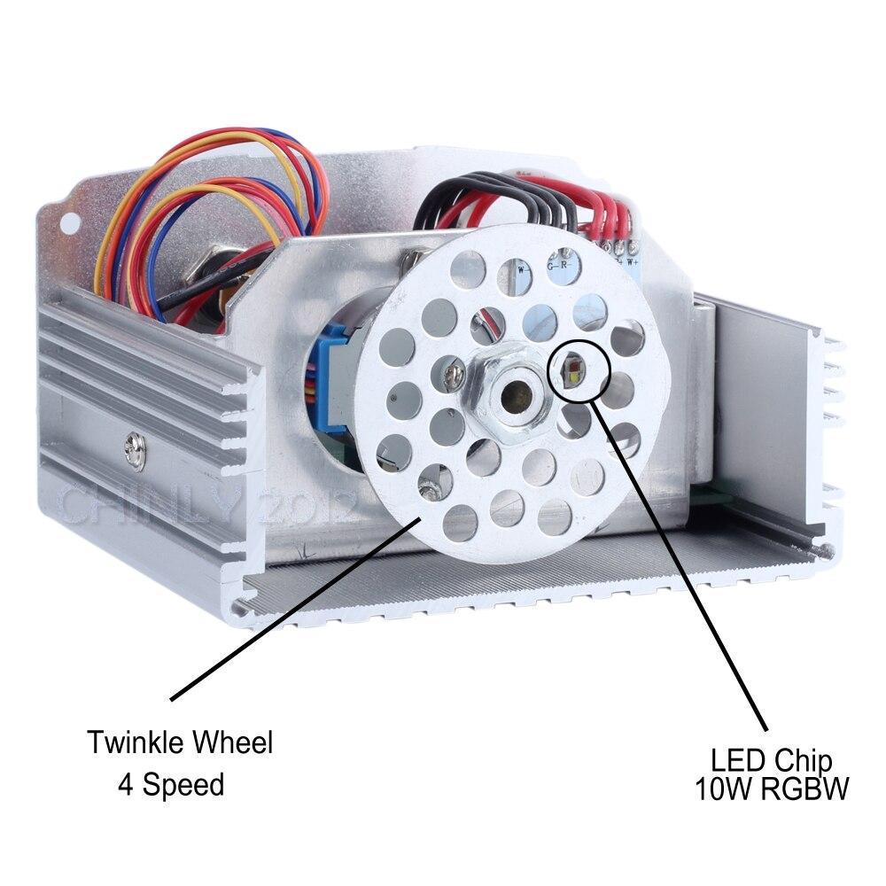 10 W effet scintillant LED Fiber optique étoile plafonnier RGBW Fiber optique moteur RF télécommande Fiber optique voiture étoilée lumières - 2