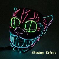 Prom Party Decor DC3V Sound Control Neon Led Strip Hiphop Cat Face EL Cold Light Cute