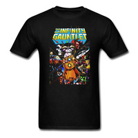 Thanos Come And Get Me The Infinity Gauntlet T Shirt Men And Women Anime Tee Big