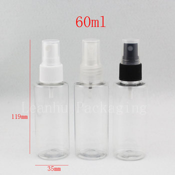 60ml X 50  transparent  spray pump bottle ,travel perfume containers , clear mist spray pot,cosmetics liquid sprayer PET bottles