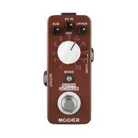 MOOER Pure Octave Electric Guitar Pedal True Bypass Metal Shell 11 Different Octave MOC1