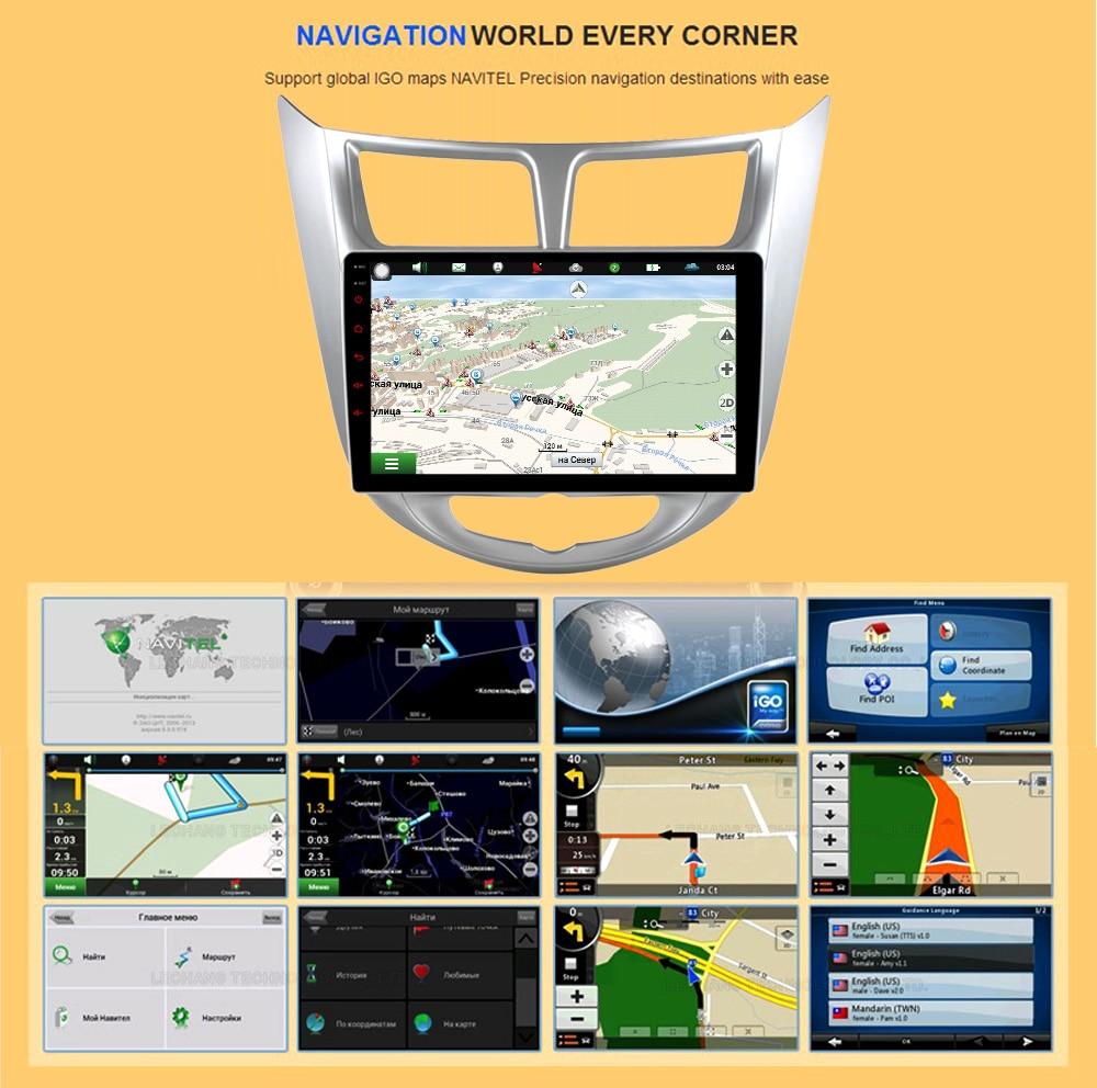 Car Radio Multimedia no 2 din android solaris Video Player Navigation GPS For Hyundai Solaris 1 2 Accent Verna sedan