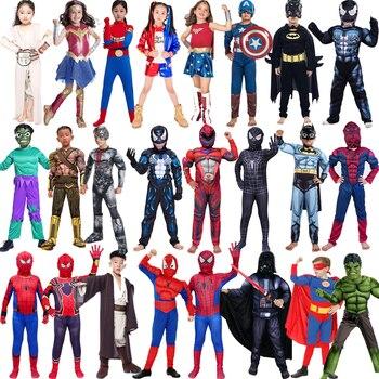 Человек-паук, Супермен, Железный человек, карнавальный костюм для мальчиков, карнавальный костюм на Хэллоуин для детей, Звездные войны, Дэдп...
