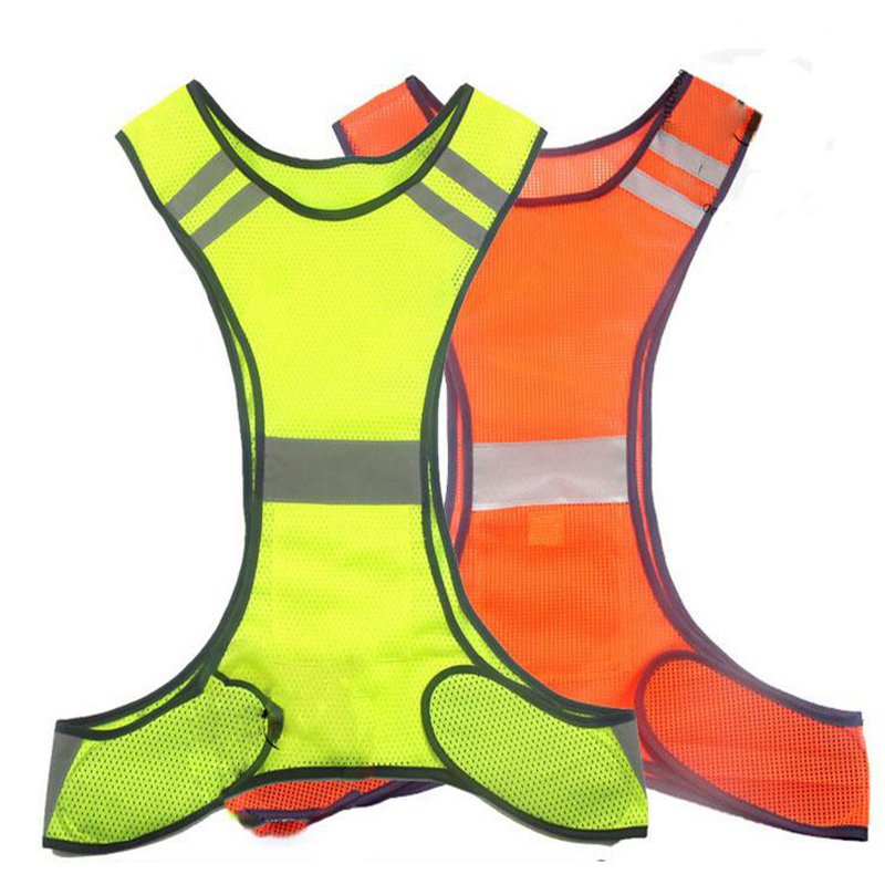 fluorescent orange yellow high visibility reflective safety vest night work new equipment with high quality fluorescent orange yellow high