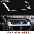 For Audi A4 A5 B8 2013 2014 2015 Car Navigation Frame Covers Console Interior Decoration Stickers Auto Accessories Car-styling