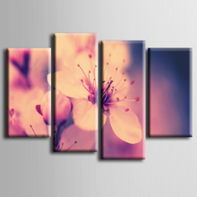 TOP Sale Modern Flower paintings 4 piece large canvas print wall art modular painting on decoration oil paint decorative picture