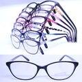 20 pcs um lote por atacado colorido 78218 cateye forma de acetato de injeção leve semi transparente cor de óculos óptica quadros