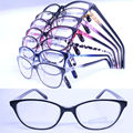 20pcs a lot  wholesale colorful 78218 injection acetate cateye shape lightweight semi transparent color optical eyeglass frames