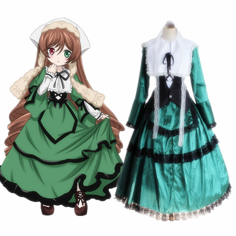 Suiseiseki Jade Stern cosplay costumes dress Japanese anime Rozen Maiden clothing Masquerade/Mardi Gras/Carnival costumes