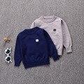 Outono roupas para crianças meninos e meninas colete de lã longo-coelho de manga comprida suéter de cashmere núcleo malha Britânico com idade a partir de 12 m-5 T