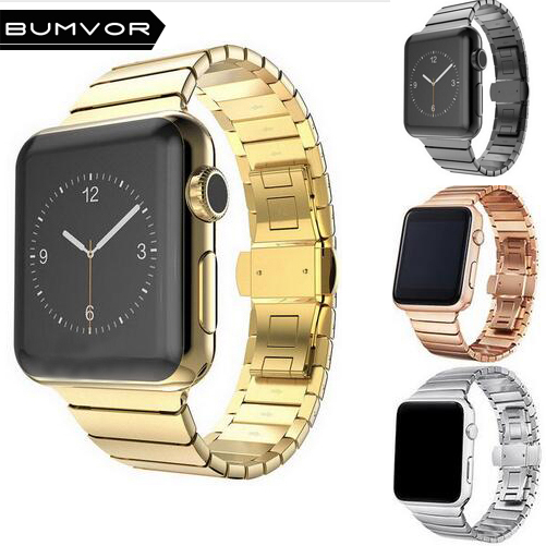 BUMVOR Black White Ceramic Watch Band Strap for Apple Watch iwatch 38/42mm Link Bracelet Butterfly Buckle series 3/2/1 new 22mm white ceramic watch band strap bracelet replacement strap for ar1417 page 8