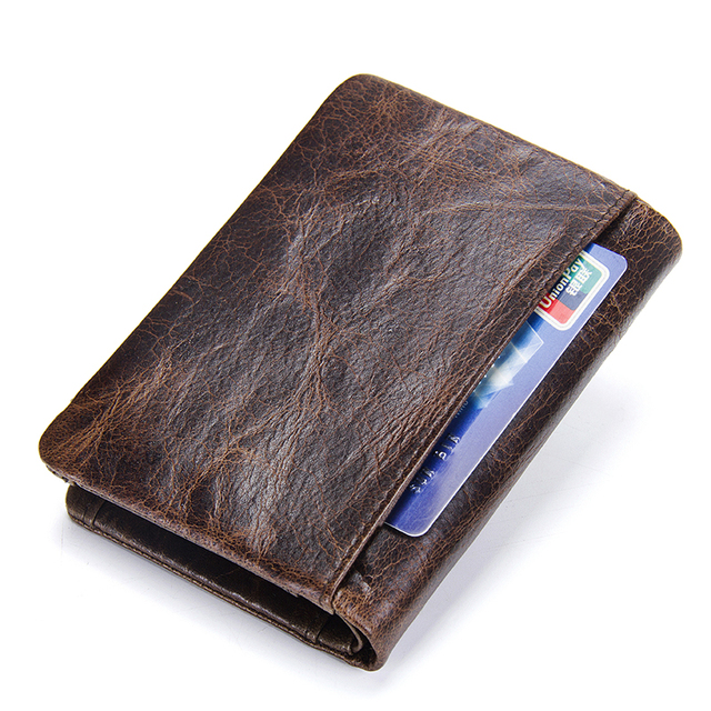 genuine leather men wallet with coin pocket vintage hasp mens wallets with card holder luxury brand short zip coin purse for men 1